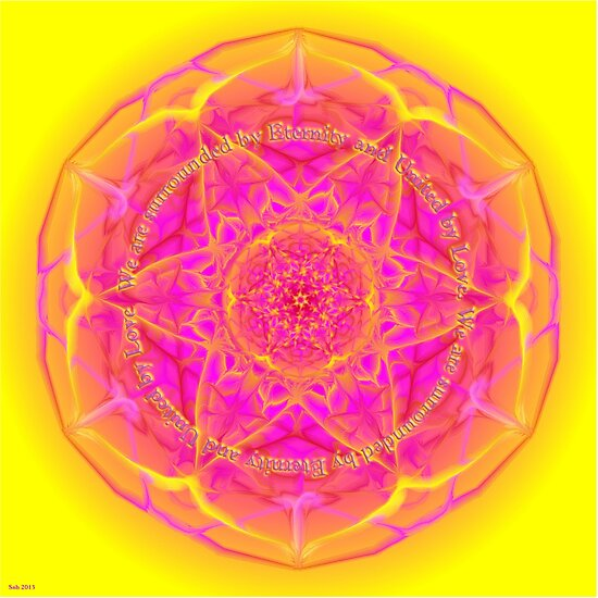 Mandala We are Surrounded by Eternity by shoffman