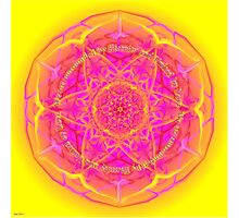 Mandala We are Surrounded by Eternity Photographic Print
