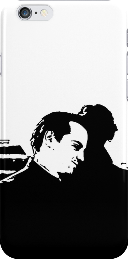 Sherlock and Moriarty rooftop iPhone Case by Nynke