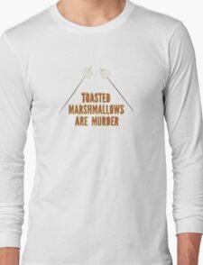 Marshmallows are murder Long Sleeve T-Shirt