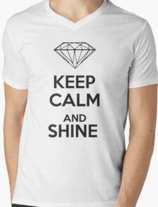 Keep Calm and Shine Mens V-Neck T-Shirt