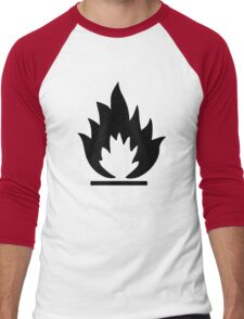 Flammable Warning Sign Men's Baseball ¾ T-Shirt
