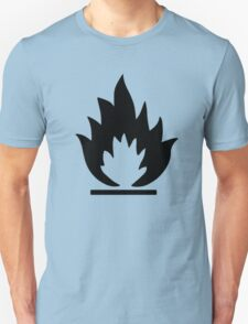 Flammable Warning Sign T-Shirt