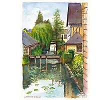 Langeais Stream in the Loire Valley of France Photographic Print