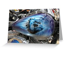 The Blue Bulldog Greeting Card