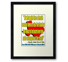 A Woman's Voice 2 Framed Print