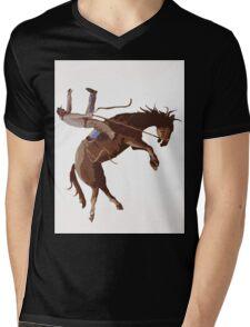 COWBOY Mens V-Neck T-Shirt
