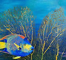 Queenie - Ocean Series Tropical Fish by Scott Plaster