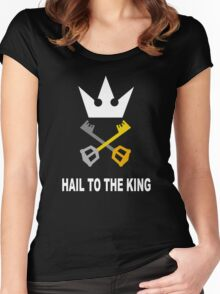 Kingdom Hearts - Hail To The King Women's Fitted Scoop T-Shirt