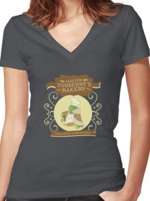 Master Tonberry's Bakery Women's Fitted V-Neck T-Shirt