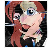 Malibu Marmalade: Cubist portrait Poster