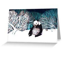 Panda bear in the snow Greeting Card