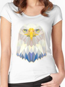 Eagle Animals Gift Women's Fitted Scoop T-Shirt