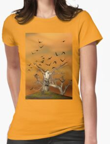 Pesky Birds Womens Fitted T-Shirt