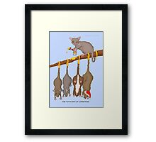The Fifth Day of Christmas (5 Golden Rings) Framed Print