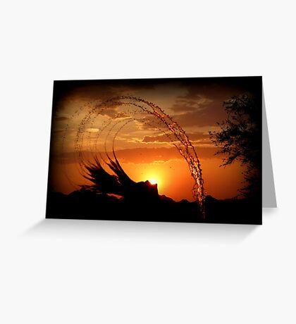 Sunset Splash Greeting Card
