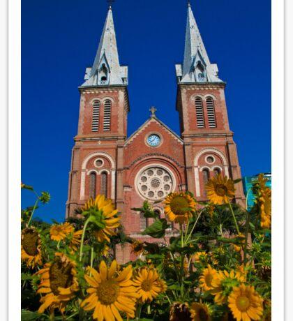 Vietnam. Ho Chi Minh City. Notre-Dame Basilica. Sticker