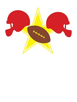 American football Grid Iron helmets and visors with STAR by jazzydevil