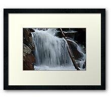 WaterFall @ Valley of Flower Trek Framed Print
