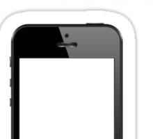 My iPhone Is Black Sticker