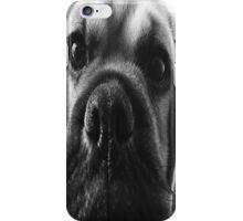 Hank the Puggle in Black & White iPhone Case/Skin