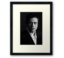 Benicio del Toro - actor Framed Print
