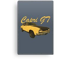 Vintage Aged Look Ford Capri GT Graphic Canvas Print