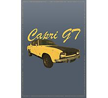 Vintage Aged Look Ford Capri GT Graphic Photographic Print