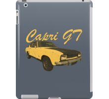 Vintage Aged Look Ford Capri GT Graphic iPad Case/Skin