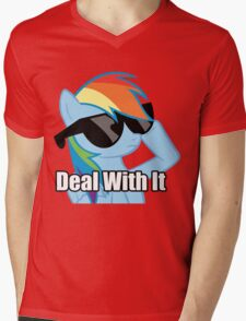 Rainbow Dash!  Mens V-Neck T-Shirt