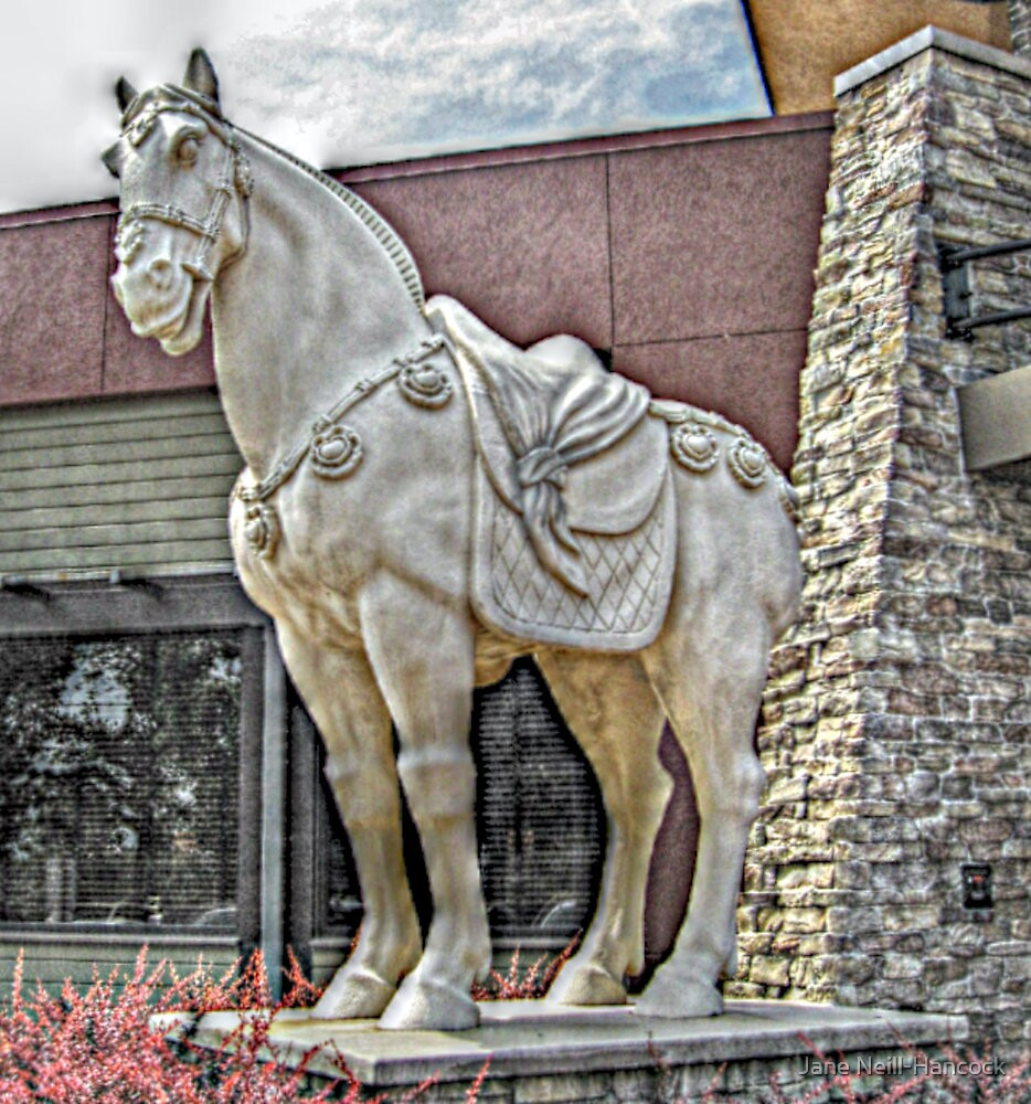Chinese Warrior Horse Statue by Jane Neill-Hancock