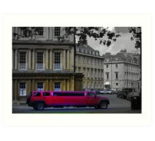 stretch Limo in Royal Circus Art Print