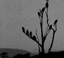 the raven tree at dusk by Alenka Co