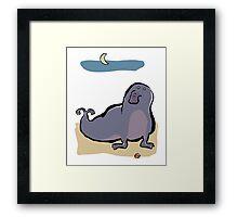 the elephant seal Framed Print