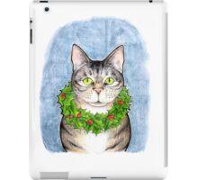 Cat with Wreath iPad Case/Skin