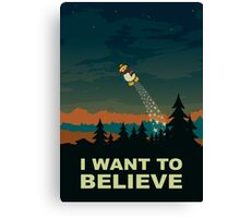 I want to believe Canvas Print