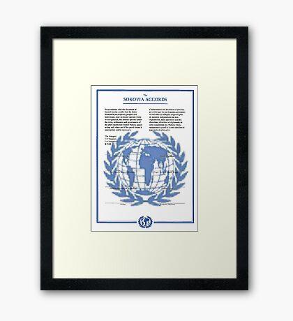 THE SOKOVIA ACCORDS Framed Print