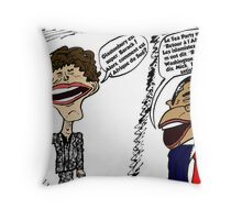 Jagger et Obama parlent Throw Pillow