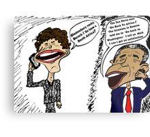 Jagger and Obama Chat Metal Print