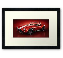 Shelby Cobra 427 - Bloodshot Framed Print