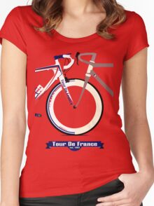 Tour De France Bike Women's Fitted Scoop T-Shirt