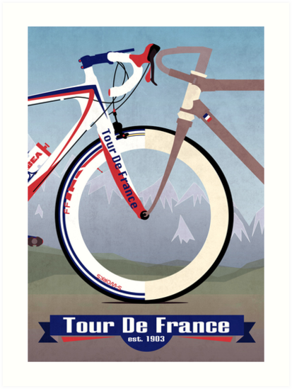 Tour De France Bike by Andy Scullion
