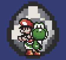 Mario & Yoshi with Egg Background by Funkymunkey