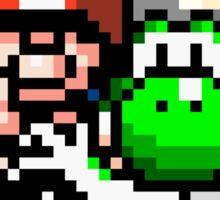 Mario & Yoshi Win Pose Sticker