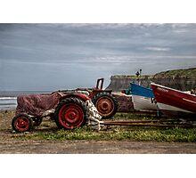 Tractors Cliff Photographic Print