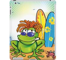 jamaican summer frog iPad Case/Skin