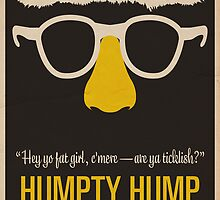 "Humpty Hump (Shock G)—""Hey yo fat girl, c'mere—are ya ticklish?"" Equal & Opposite funny glasses poster series. Part 2 of 2.  by Equal-Opposite"