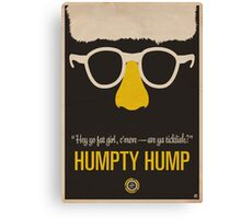 "Humpty Hump (Shock G)—""Hey yo fat girl, c'mere—are ya ticklish?"" Equal & Opposite funny glasses poster series. Part 2 of 2.  Canvas Print"