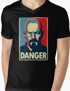 Danger  Mens V-Neck T-Shirt