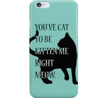 You've cat to be kitten me right meow. iPhone Case/Skin